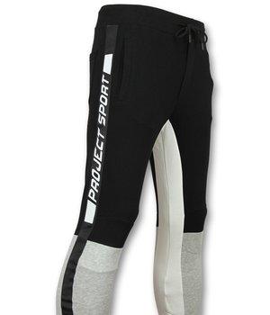 Enos Pantalones de chandal hombre pegados - Pantalones de chandal - PF7663 - Negro