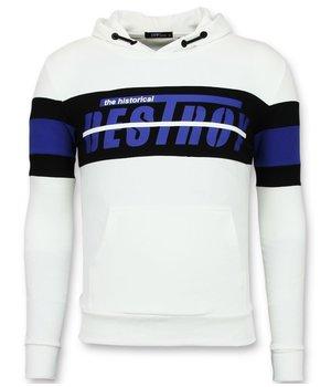 Enos Sudaderas de marca baratas - Suéter de los hombres - F-7515 - Blanco