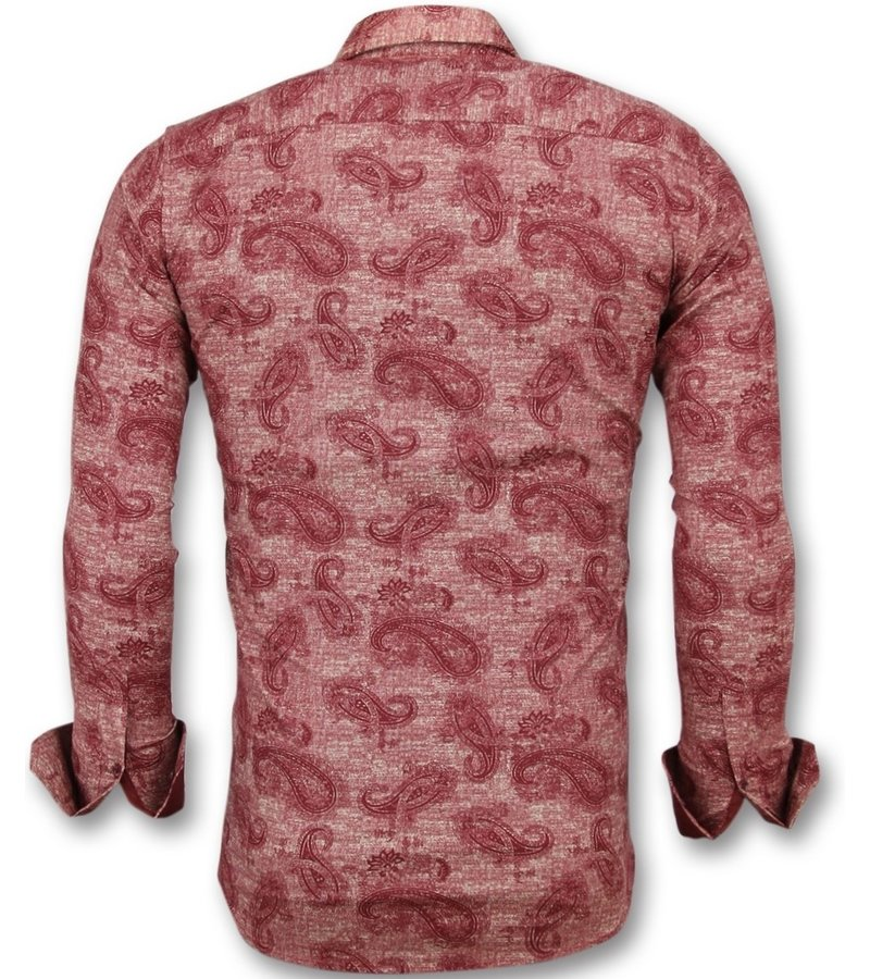Gentile Bellini Camisas de moda para jovenes hombres - Camisas italianas hombre - 3003 - Rojo