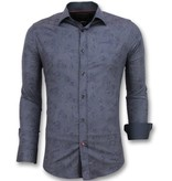 Gentile Bellini Camisas modernas para hombre - Moda de hombre italiana - 3005 - Azul