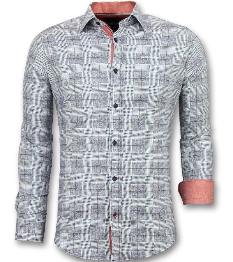 Gentile Bellini Camisas italianas de hombre - Camisas hawaianas hombre baratas - 3006 - Azul