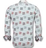 Gentile Bellini Camisas de moda para jovenes hombres - Modelos de camisas slim fit - 3012 - Weib