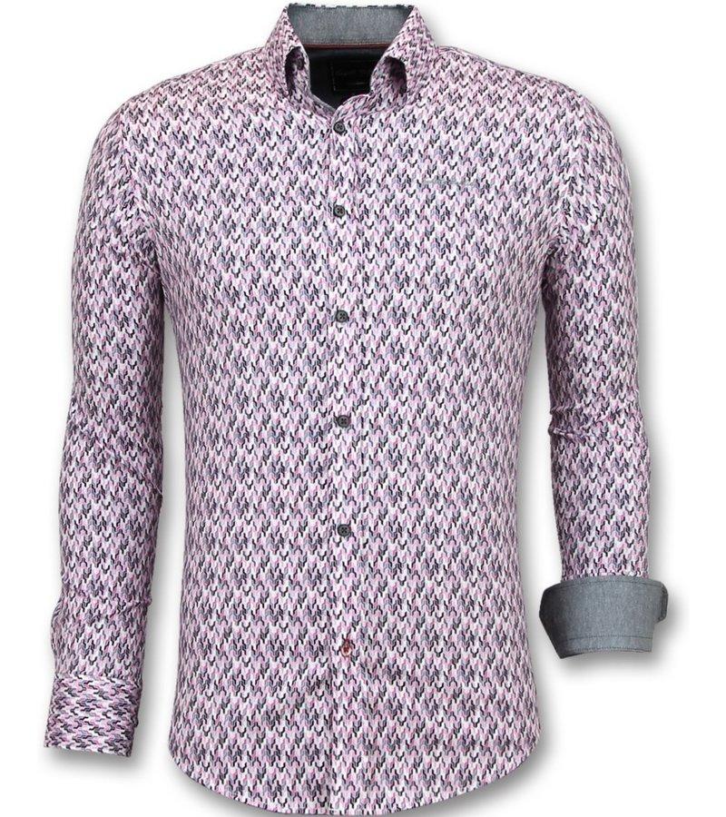 Gentile Bellini Modelos de camisas slim fit - Camisas largas para hombre - 3013 - Rosa