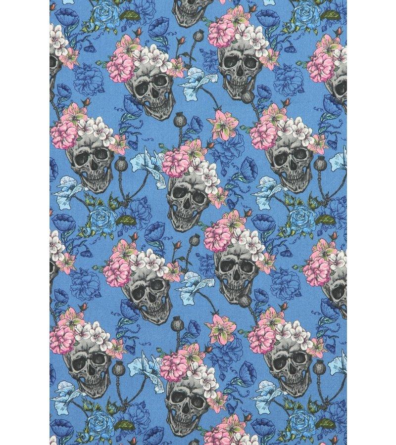 Gentile Bellini Camisas hombre con calaveras - Camisas italianas baratas -3014 - Azul