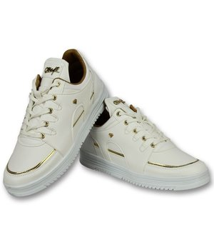 Cash Money Zapatos de moda para hombre casuales - Luxury White - CMS71 - Blanco