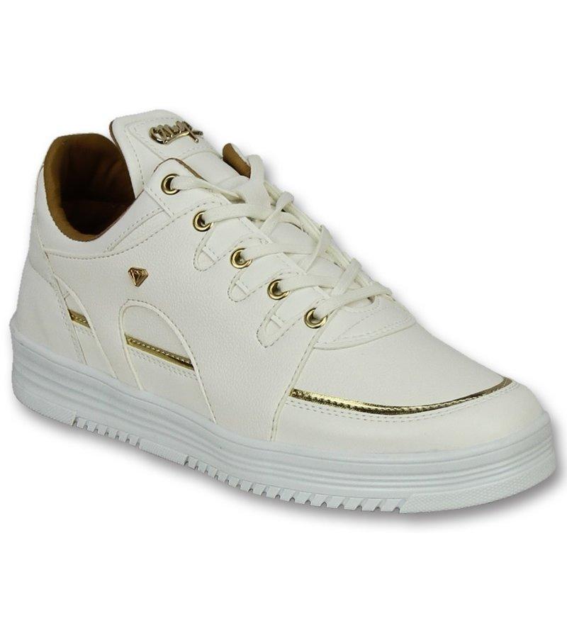 Cash Money Zapatos de moda para hombre casuales - Luxury White - CMS71 - Blanco