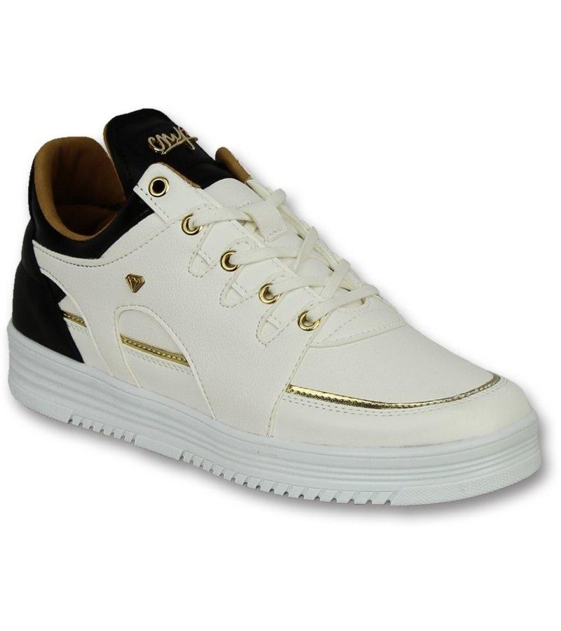 636620efd ... Cash Money Zapatos tipo zapatillas para hombre - Luxury White Black -  CMS71 - Blanco ...