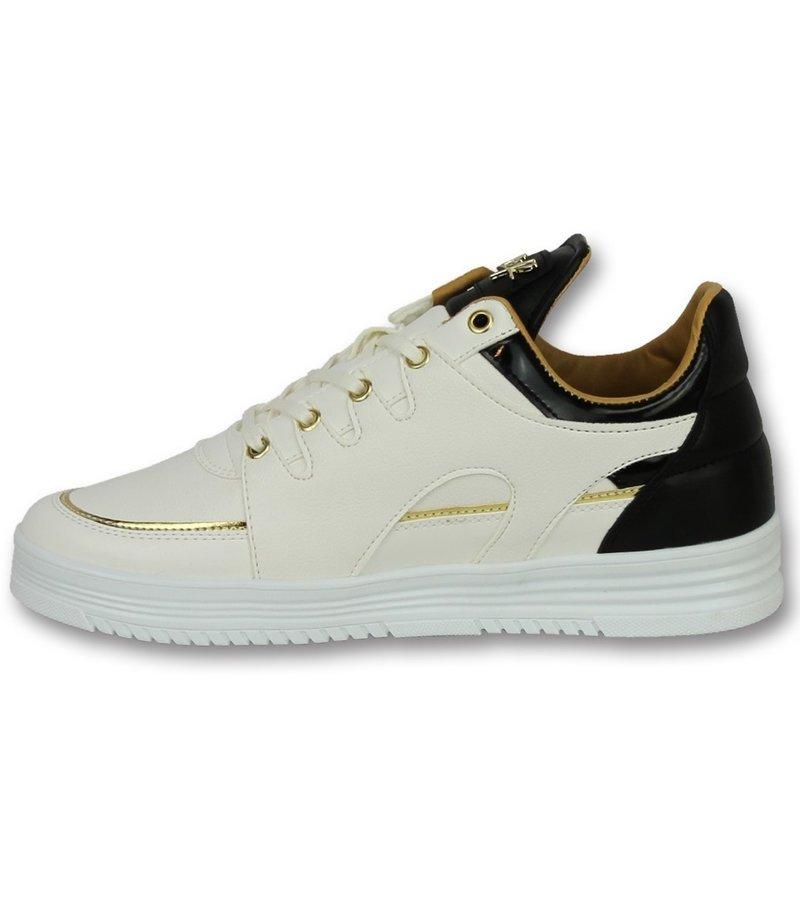 Cash Money Zapatos tipo zapatillas para hombre - Luxury White Black - CMS71 - Blanco