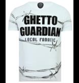Local Fanatic Bad Angel Rhinestones - Camiseta Hombre - 6318W - Blanco