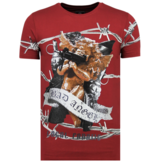 Local Fanatic Bad Angel Rhinestones - Camisetas Hombre - 6318B - Burdeos