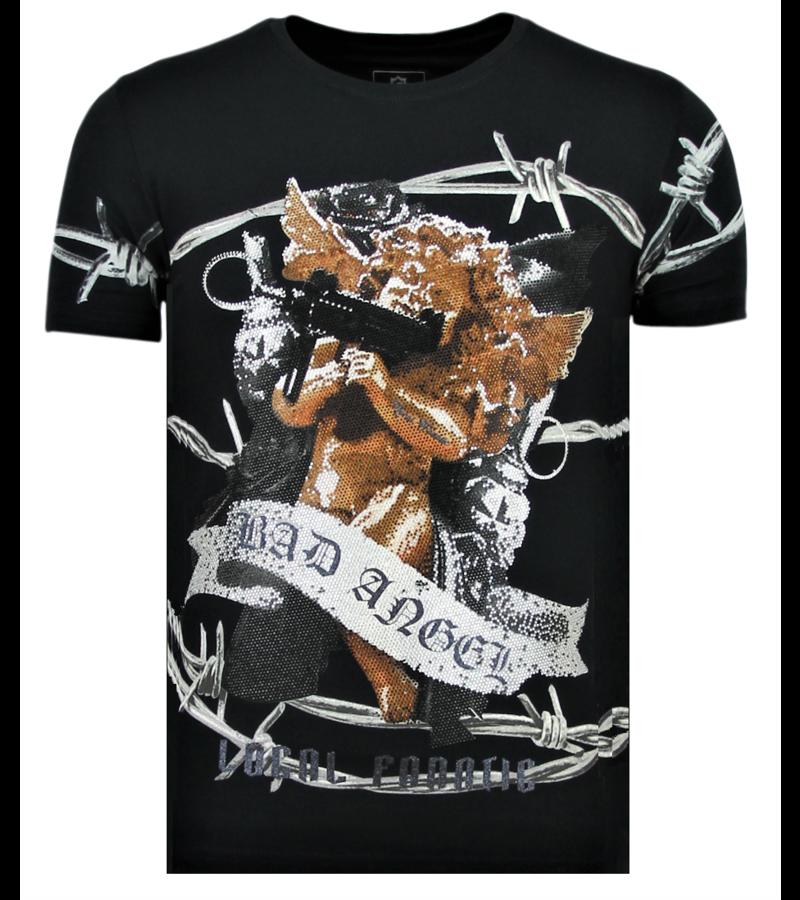 Local Fanatic Bad Angel Rhinestone - Camiseta Hombre - 6318N - Negro
