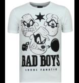 Local Fanatic Beagle Boys Rhinestones - Camiseta Hombre - 6319W - Blanco