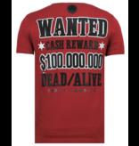Local Fanatic Beagle Boys Rhinestones - Camisetas Hombre - 6319B - Burdeos