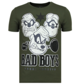 Local Fanatic Beagle Boys Rhinestone - Camiseta Hombre - 6319G - Verde