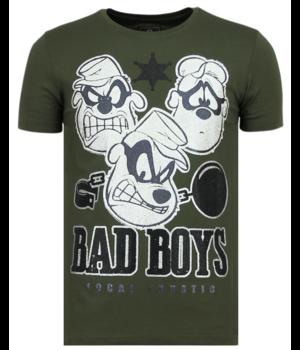 Local Fanatic Beagle Boys Rhinestone - Camiseta Hombre - 6319G - Verde
