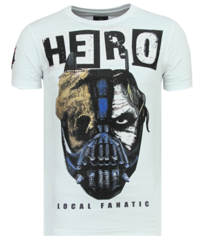 Local Fanatic Hero Mask Rhinestone - Camiseta Hombre - 6323W - Blanco