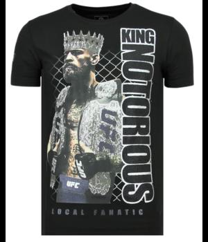 Local Fanatic King Notorious Rhinestone - Hombre Camiseta - 6324Z - Negro