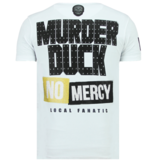 Local Fanatic Rhinestones Villain Duck - Hombre Camisetas Moda - 6325W - Blanco