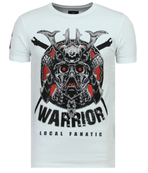 Local Fanatic Savage Samurai Rhinestone - Camiseta Hombre - 6327W - Blanco