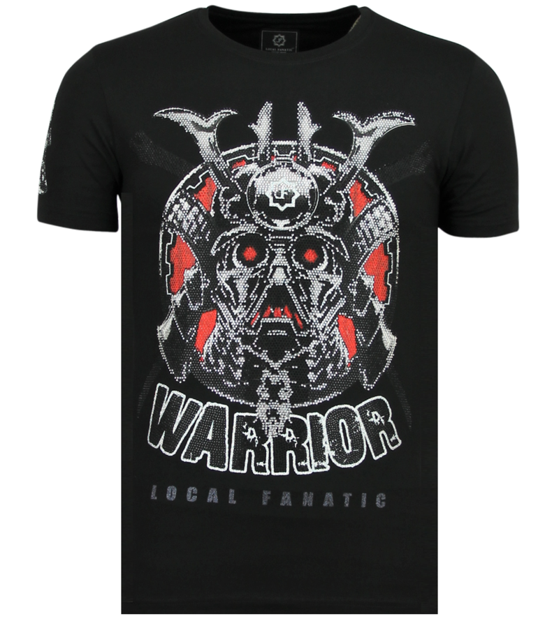 Local Fanatic Savage Samurai Rhinestones - Camisetas Hombre - 6327Z - Negro