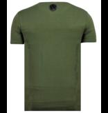 Local Fanatic ICONS Vertical Rhinestones - Camisas Para Hombre - 6362G - Verde