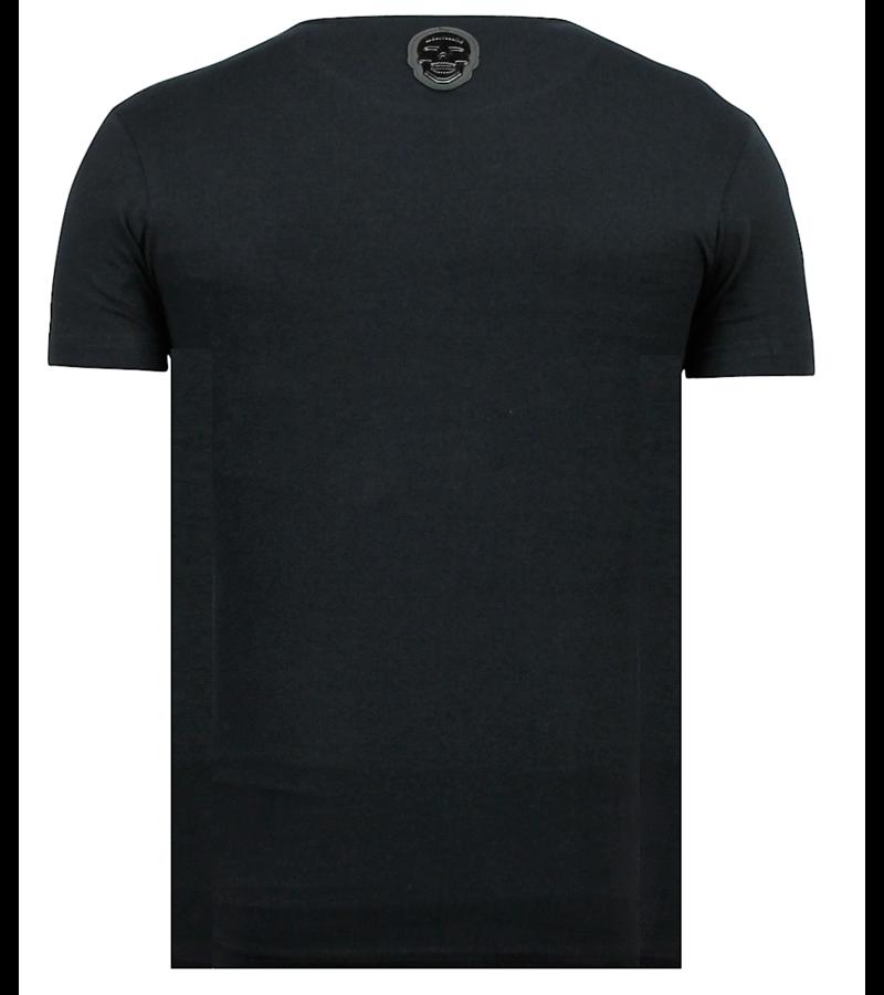Local Fanatic ICONS Vertical Rhinestones - Camisetas Online - 6362Z - Negro
