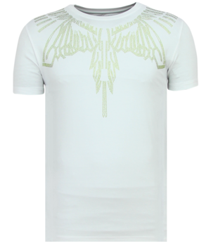 Local Fanatic Eagle Glitter Rhinestones - Camisetas Hombre - 11-6359W - Blanco