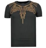 Local Fanatic Eagle Glitter Rhinestones - Camisetas Hombre 2019 - 11-6359Z - Negro
