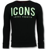 Local Fanatic ICONS Sudaderas de Marca - Sueter Para Hombre - 11-6349Z - Negro