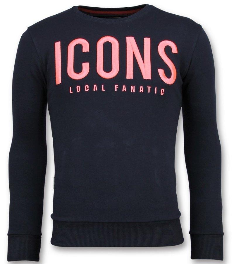 Local Fanatic ICONS Sudaderas de Marca - Hombre Sweater  - 11-6349N - Azul