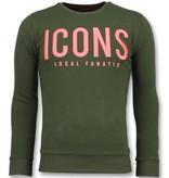 Local Fanatic ICONS Sudaderas de Marca - Sweater Hombre - 11-6349G - Verde