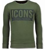 Local Fanatic Rhinestones ICONS BLOCK - Comprar Sudaderas - 11-6355G - Verde