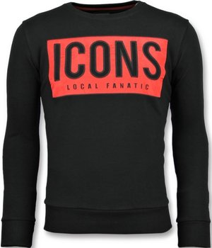Local Fanatic ICONS BLOCK Rhinestones - Comprar Sudaderas - 11-6355Z - Negro