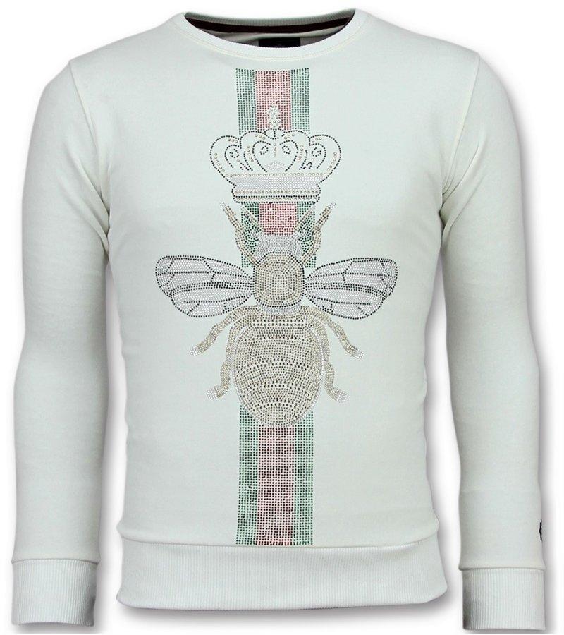 Local Fanatic Rhinestones King Fly - Sudaderas de Marca - 11-6342W - Blanco