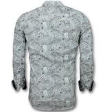 Gentile Bellini Camisas Italianas Hombre -  Blusa Paisley Print - 3019 - Blanco