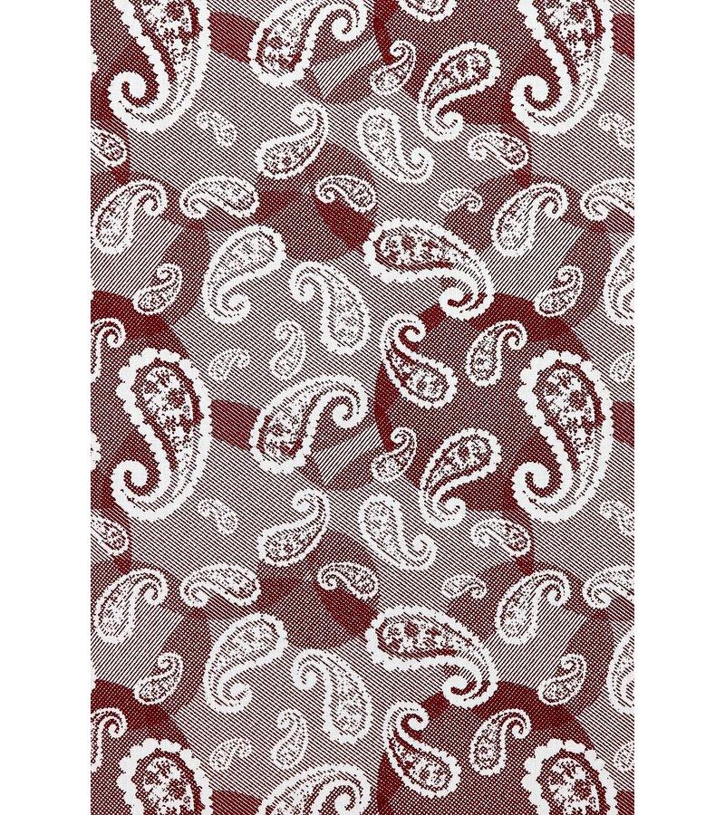 Gentile Bellini Camisa Exclusiva Para Hombre - Paisley Italiano De Lujo - 3022 - Rojo