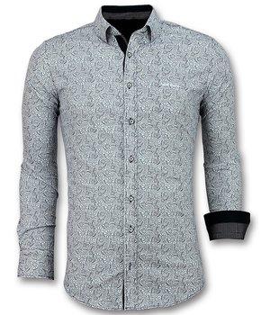 Gentile Bellini Camisas Italianas Hombre - Blusa Flower Garden - 3028 - Blanco