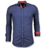 Gentile Bellini Camisas Casuales Para Hombre - Blusa De Lirio Francés - 3029 - Azul