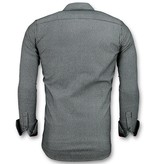 Gentile Bellini Modelos De Camisas Slim Fit - Blusa Rayas - 3030 - Azul