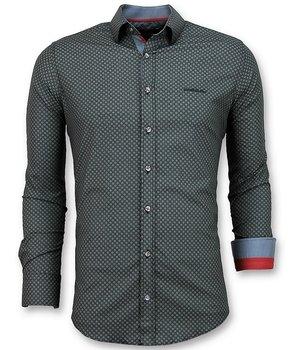 Gentile Bellini Camisas Italianas Hombre - Sunshine Blusa - 3031 - Negro