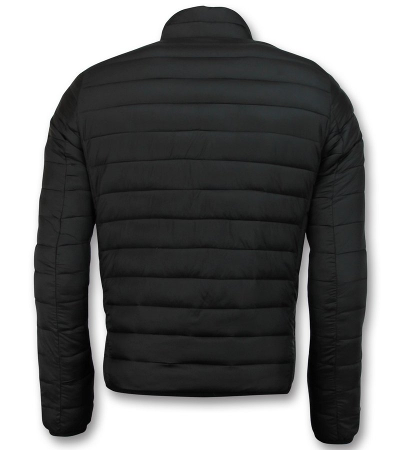 Enos Chaqueta Corta Para Hombre - Chaqueta Acolchada Slim Fit - Negro