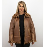 Z-design Lammy Coat Ladies - Chaqueta De Invierno Mujeres - Marrón