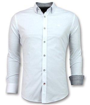 Gentile Bellini Blusa Italiana Hombre - Camisas Entalladas - 3034 - Blanco