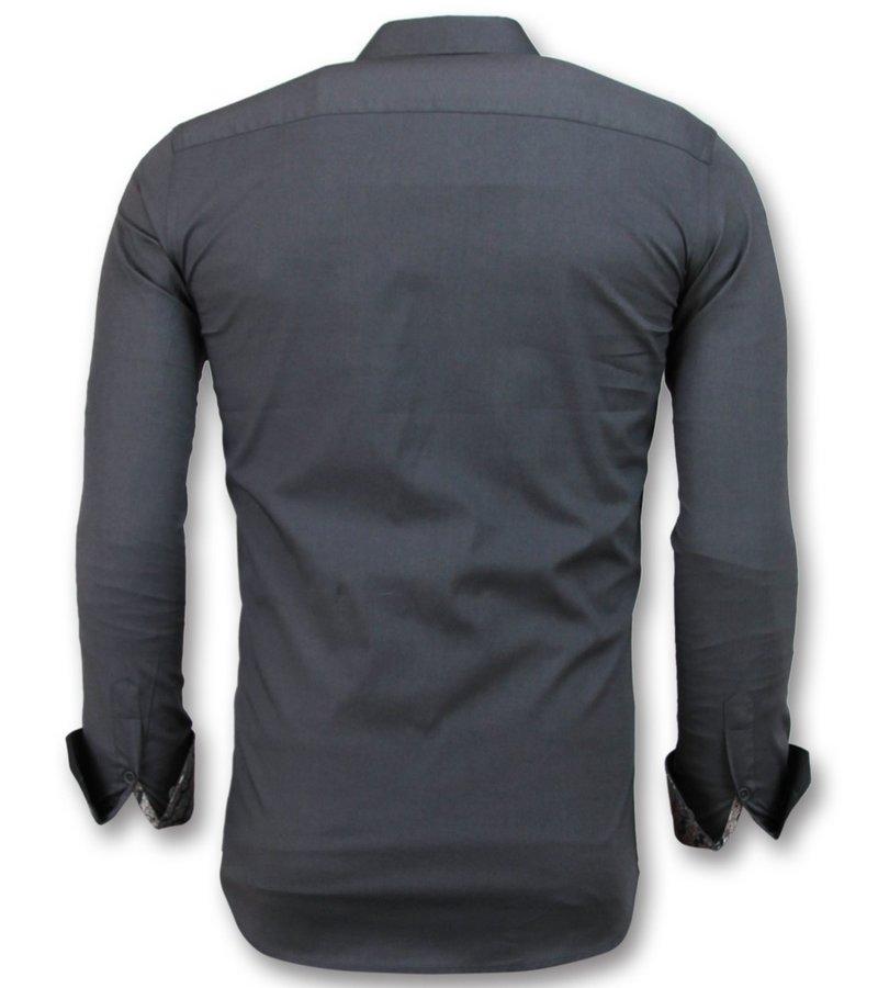 Gentile Bellini Camisas Especiales Para Hombres - Camisas Exclusivas Men - 3042 - Gris
