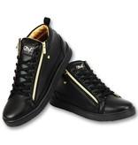 Cash Money Zapatos de Hombre - Bee Black Gold V2 - CMS98  - Negro