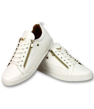 Cash Money Zapatillas Casual Hombre -  White Gold CMS97 - Blanco