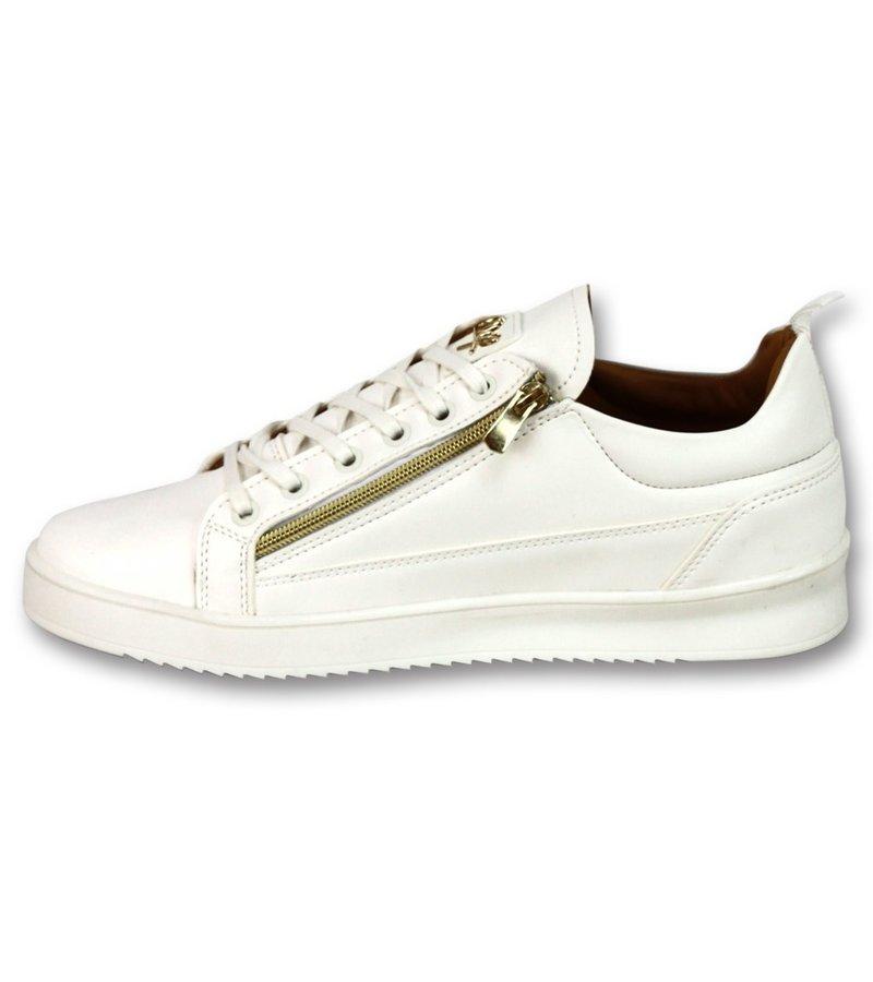 Cash Money Zapatillas Casual Hombre -  White Gold CMS97 - Blanco