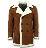 Frilivin Abrigo De Piel Artificial - Lammy Coat Long - Marrón