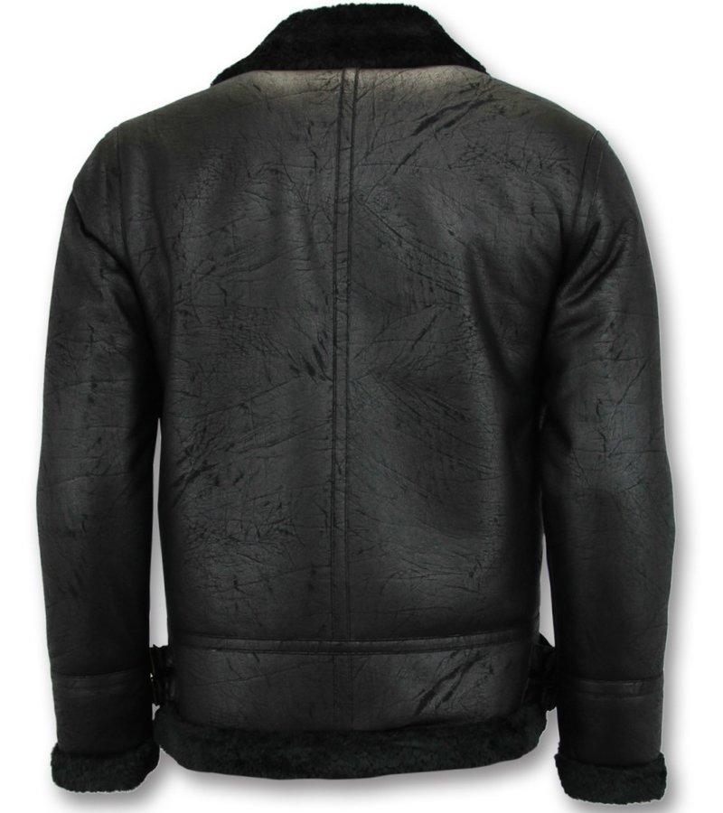 Tony Backer Shearling Jacket - Lammy Coat Hombre - Negro