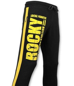 Local Fanatic Pantalones Deportivos - Italian Stallion Rocky Balboa - Negro
